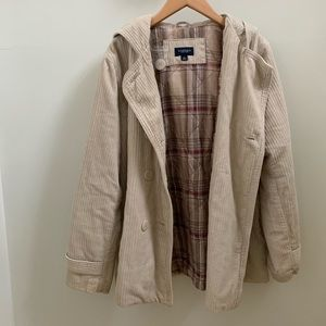 Sonoma Jackets & Coats - Sonoma Corduroy Hooded Jacket Coat, Tan, XL